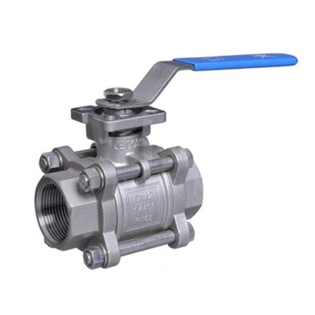 Stainless Steel Ball Valve 3 Piece Full Bore Direct Mount