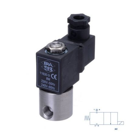 "Stainless Steel Solenoid Valve 1/4"" Mini Direct Acting"