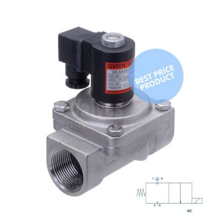 "Stainless Steel Solenoid Valve 0 Bar Rated Assisted Lift 1/2"" to 2"""