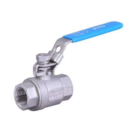 2 Piece Stainless Steel Ball Valve Full Bore, BSP/NPT