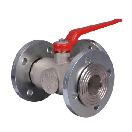 Brass Ball Valve Flanged 3 Way