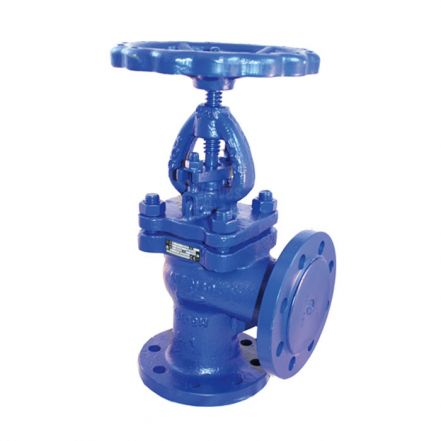 Cast Iron Globe Valve Angle Pattern Flanged PN16