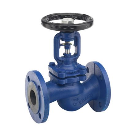 Cast Iron Globe Valve Bellows Sealed Flanged PN16