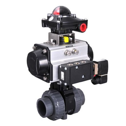 Pneumatic Actuated PVC Ball Valve