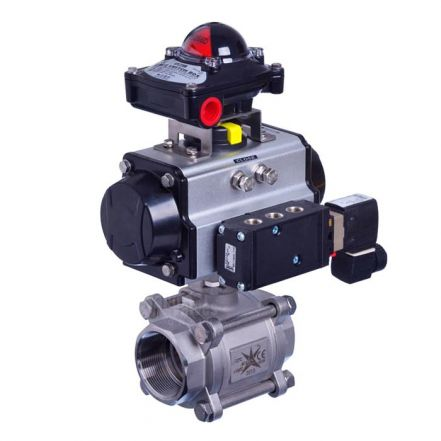 Series 77 Pneumatic Actuated 3 Piece Ball Valve