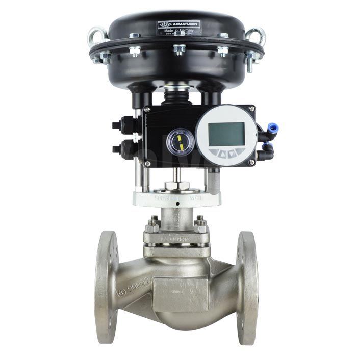 pn40 stainless steel ari stevi vario pneumatic globe control valve c