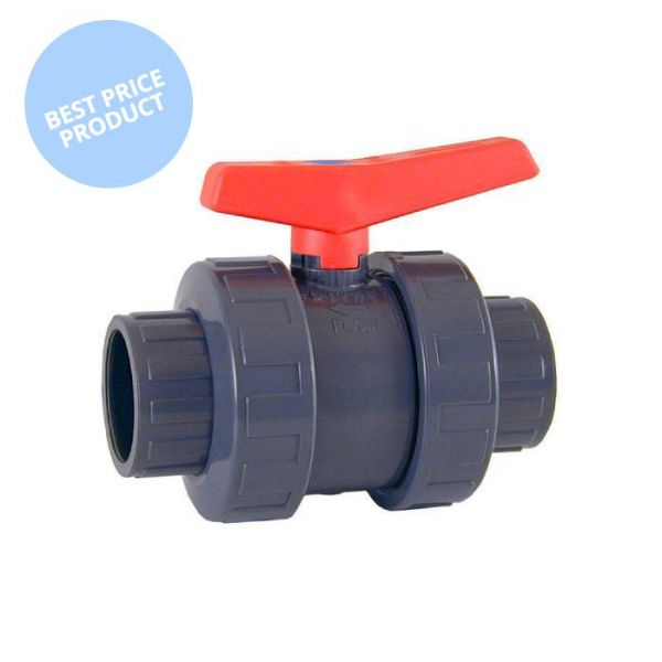 Cepex Economy PVC Double Union Ball Valve