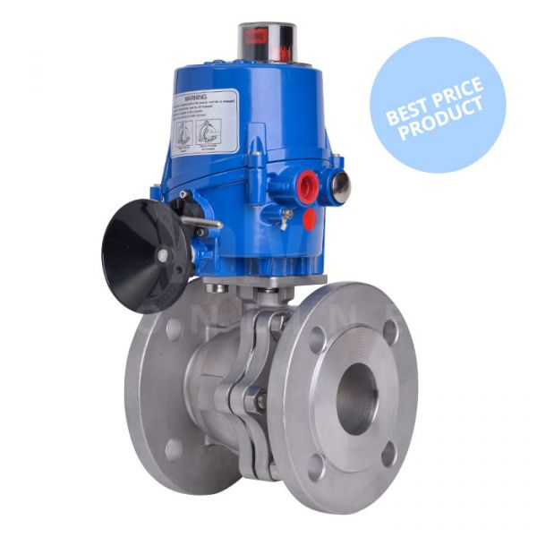 Electric Actuated Economy Stainless Steel PN16 Ball Valve