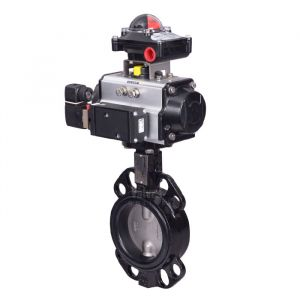 Pneumatic Actuated Butterfly Valve Wafer Pattern