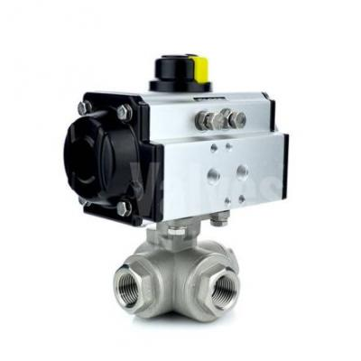 VO - 3 Way Pneumatic Actuated Ball Valves