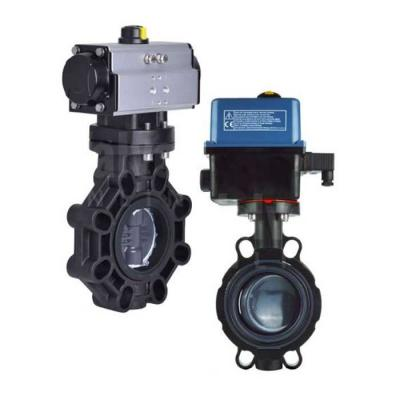 Plastic Actuated Butterfly Valves