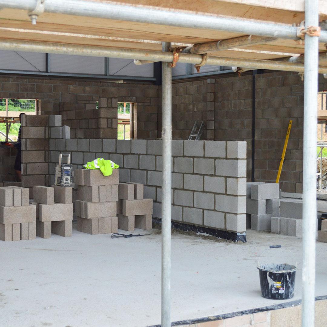 inside brickwork