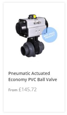 Economy Pneumatic PVC Ball Valve