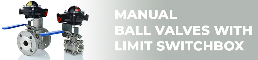Manual Ball Valves with Limit Switchboxes