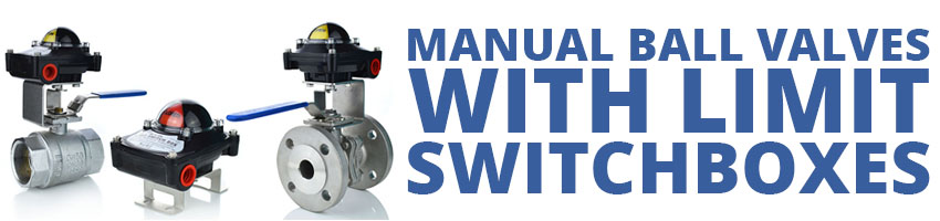 Manual Ball Valves with Limit Switch Box