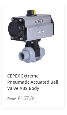 Pneumatic Actuated ABS Ball Valve
